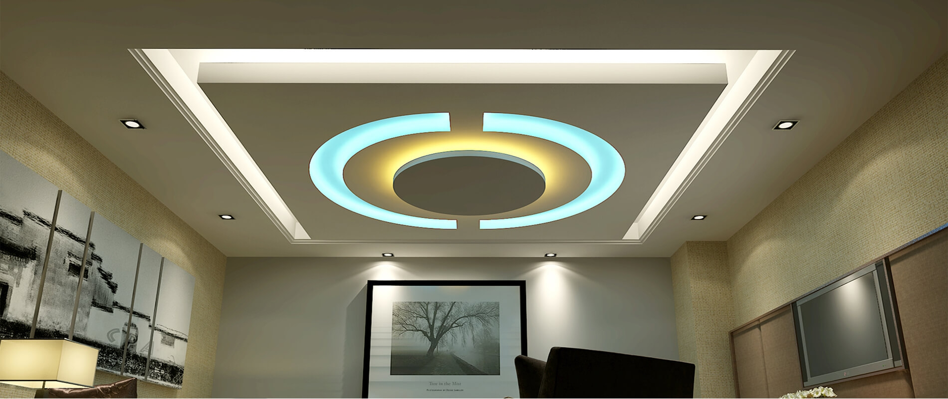 Design Ceiling Gypsum Ceiling  Plain ceiling